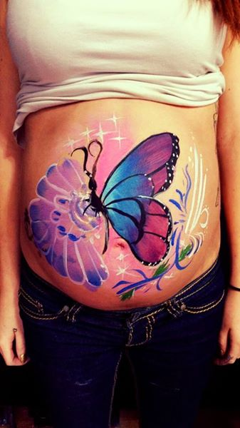 pregnet belly painting Lizzy