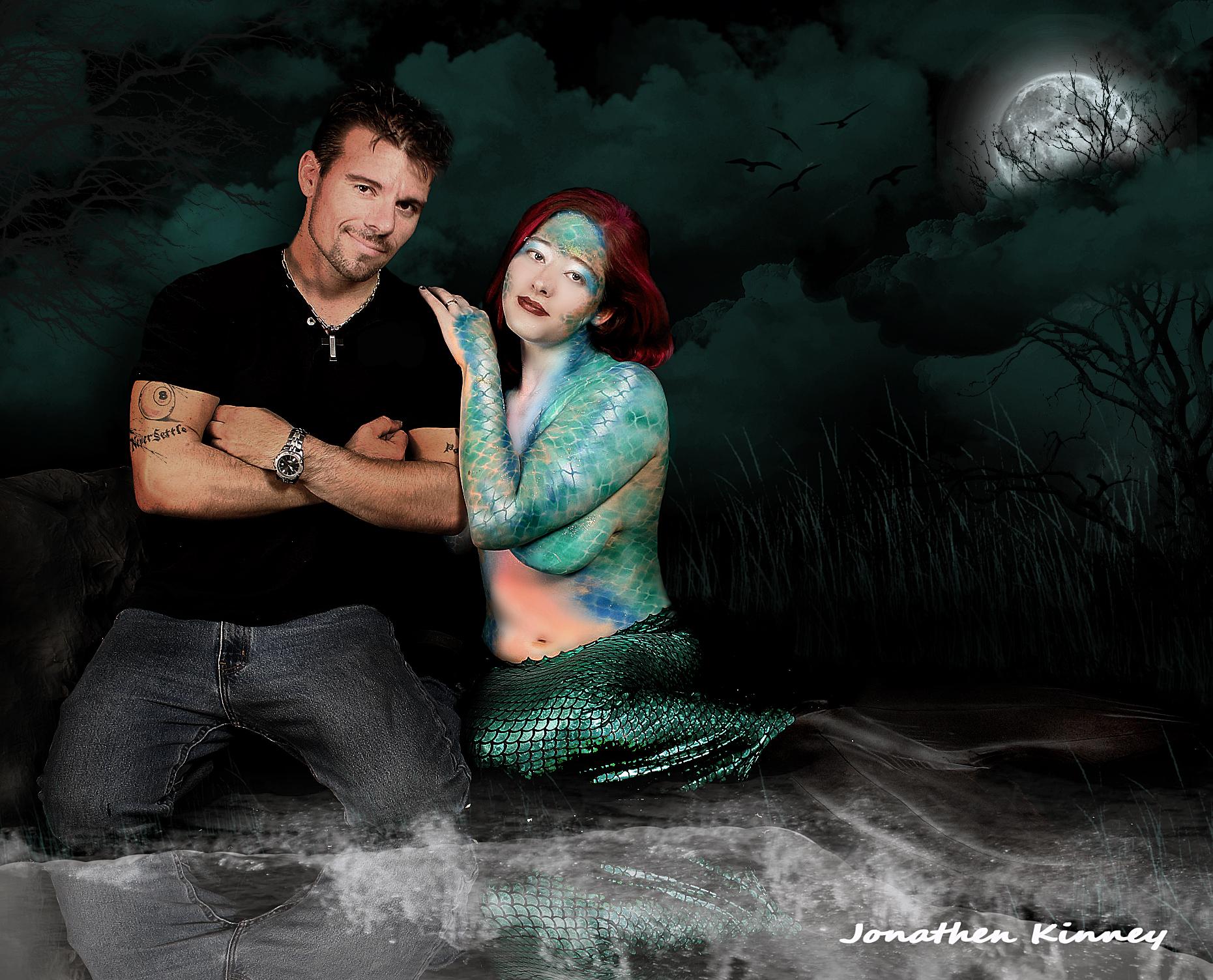 mermaid bodyart
