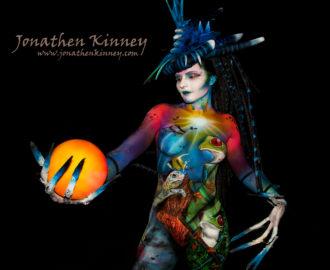 Bodyart Jonathen Kinney model Natasha